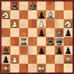 1.Nxg4 Mate or self-mate in four for either color. 1–0 (Chess Problems, Frontispiece)
