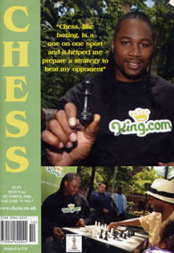 Former boxing great Lennox Lewis on the cover of October 2006 CHESS.