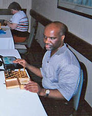 Michael Davis enroute to his 4-0 victory at the 2004 U.S. Blind Championship in Fort Lauderdale, FL.