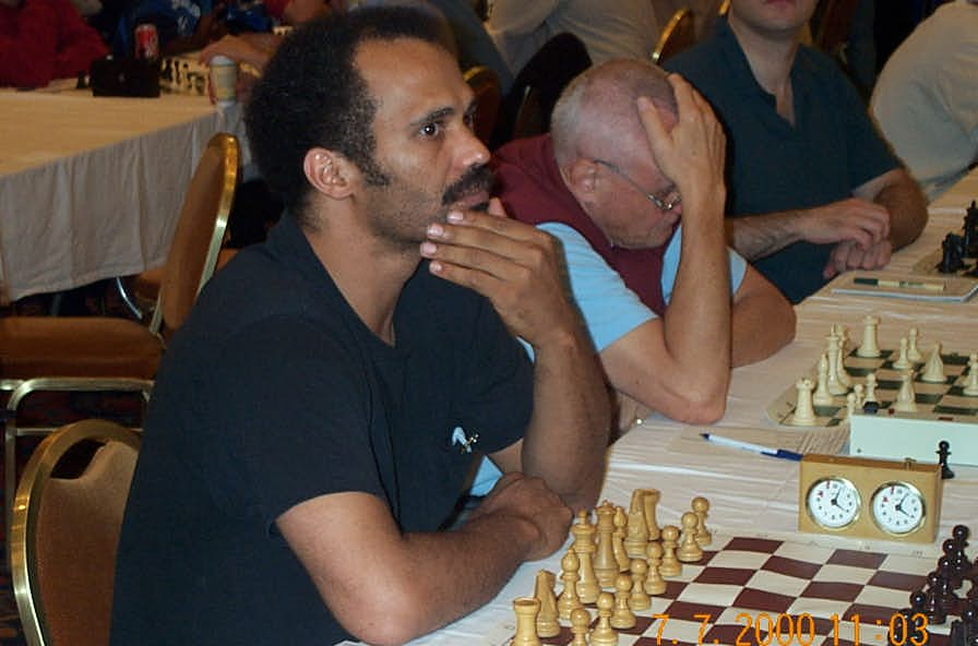 FM Emory Tate at 2001 World Open. Copyright ©, Daaim Shabazz.