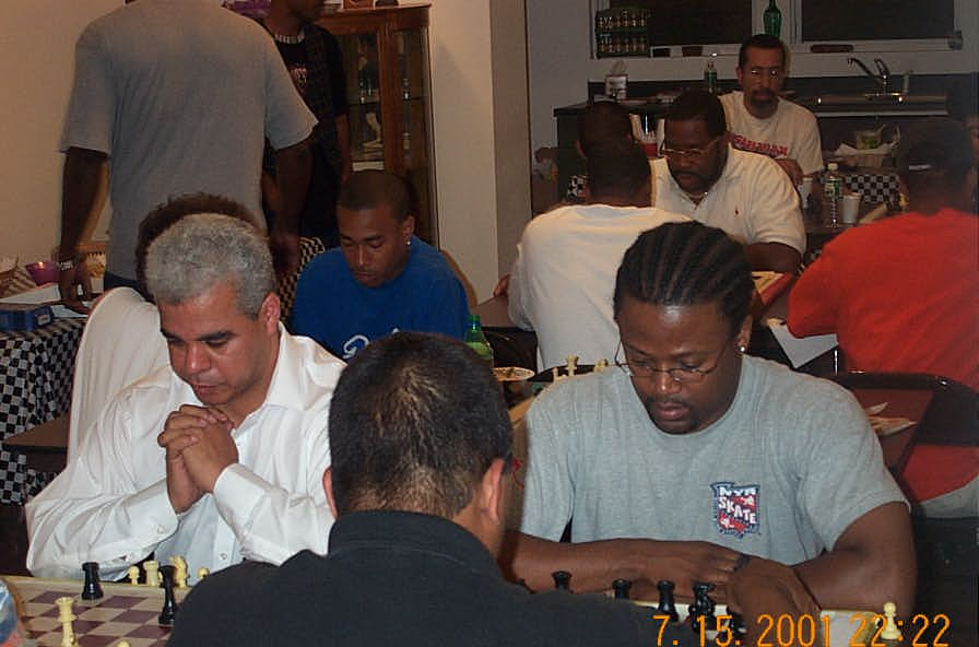 NM Colding and GM Ashley defending the 'Black Bear' tradition. Copyright ©, Daaim Shabazz.