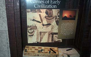 Exhibit on the ancient Egyptian game, Senet. Copyright ©, Daaim Shabazz.