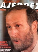 GM Bobby Fischer on cover of Tiempo de Ajedrez