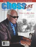 Legendary Ray Charles on the cover of September 2002 Chess Life magazine.