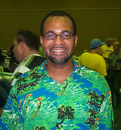 Vaughn Bennett, Executive Director of the Olympic Chess House. Copyright © 2002, Daaim Shabazz.