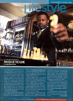GM Maurice Ashley in the March 2005 issue of Black Enterprise magazine.