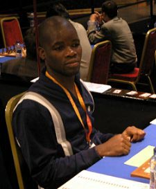 Angola's Catarino Domingos in Mallorca, Spain for the 36th Olympiad.
