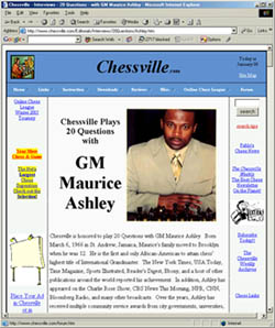 Chessville plays 20 Questions with Maurice Ashley