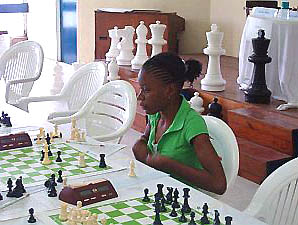 Deborah Richards playing in the Sagicor Junior Open (Barbados).