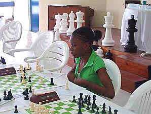 Deborah Richards scored a sparkling 7-1 at the Sagicor Junior Open.