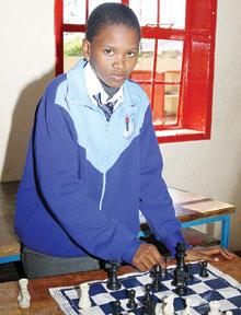 Galaletsang Mooketsi - Botswana's Junior and Senior Schools Chess Champion