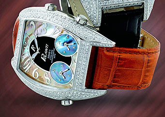 The $7000.00 Polanti watch with 200 4.4k diamonds.