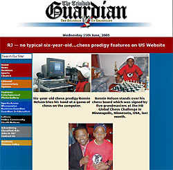 RJ makes the June 15th Trinidadian Guardian newspaper. Click on the image above to read the article.