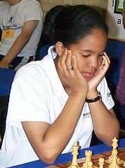 Sabrina Chevannes, then a 13-year old phenom at UK Chess Challenge.