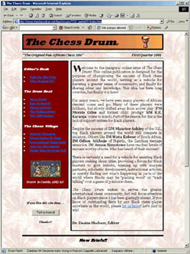 First issue of The Chess Drum