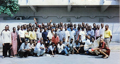 Picture taken at the National stadium, Surulere, Lagos. Chess tournaments usually take place at the sports hall of the stadium. Photo from NigerianChessPlayers.com.