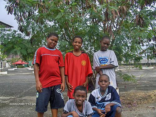 Jahzain Malcolm, Dharon Sutherland, Keno Samuel, Kevin Mahabir, Akeenie Murray. Copyright © 2006, Lesley-ann Nelson.