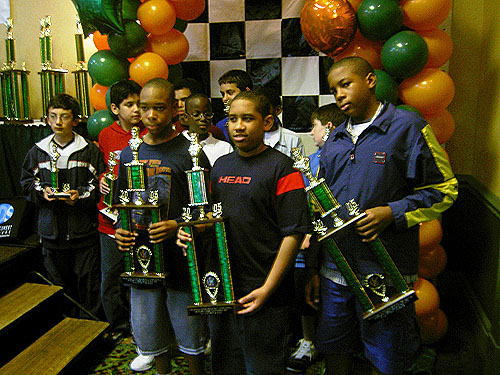 Front row: left to right, Hakim Buchanan (3rd), Christopher Raphael (1st), & Stuart James (2nd)