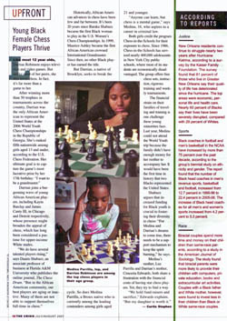 Medina Parrilla and Darrian Robinson were featured in the July issue of the NAACP's Crisis magazine. The story was written by Curtis Stephen and highlights the success and challenges of the two new York scholastic stars.