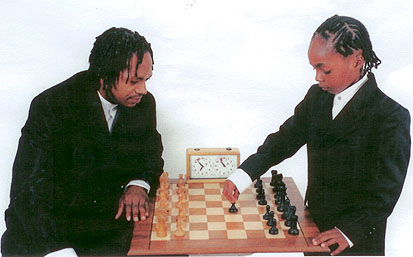 National Master Lionel Davis with son Shaka playing an ultramodern game.