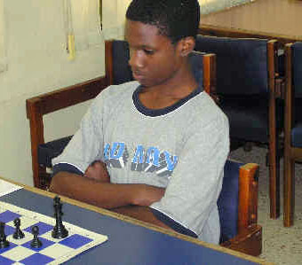 Onaje Lamont torched the field in the Jamaican Juniors toppling defending champion Brandon Wilson. Photo by Jamaica Ambassadors Chess Academy.