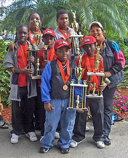 Trinidadian contingent victorious at the 2007 Orange Bowl in Miami. Photo courtesy of Lesley-ann Nelson.