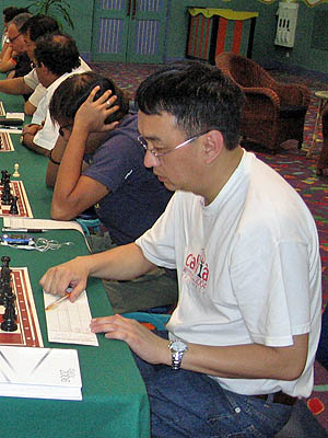Patrick Li-Ying at a 2006 tournament in Mauritius.