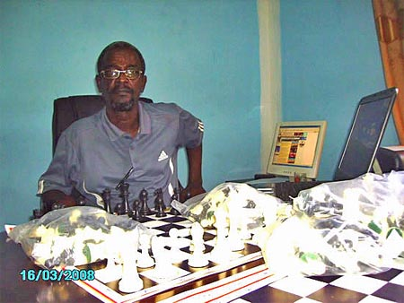Ahmed Abdi Hassan, President of Somali Chess Federation