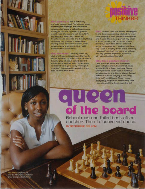 Stephanie Ballom featured in Sweet 16 magazine back in 2005.
