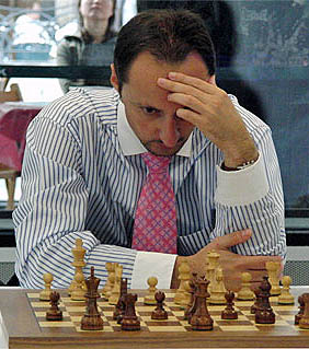Veselin Topalov at 2008 Bilboa Masters. Photo by ChessBase.