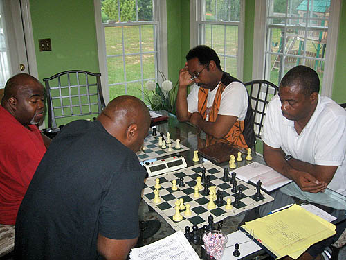 Glenn Bady (Philly) vs. FM William Morrison (Baltimore); Ray 'Dragon' Robinson (Philly) vs. Dr. Kimani Stancil (Baltimore).  Photo by Michael Williams.
