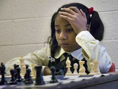 Brenae Smith pondering her next move. Photo by Bill Bresler.