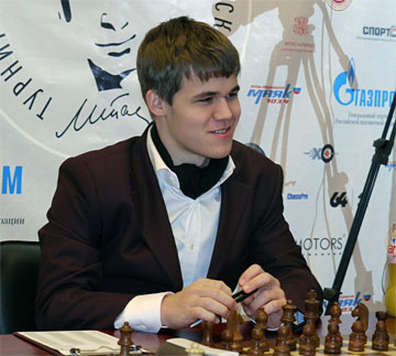 GM Magnus Carlsen, world's top-rated player.