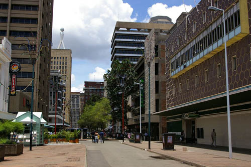 First Street in Harare, Zimbabwe