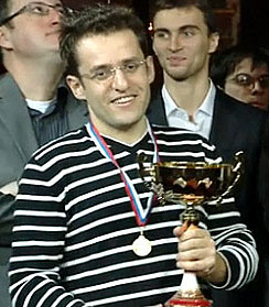 Armenia's Levon Aronian, winner of 2010 World Blitz Championship. Photo by Anastasiya Karlovich.