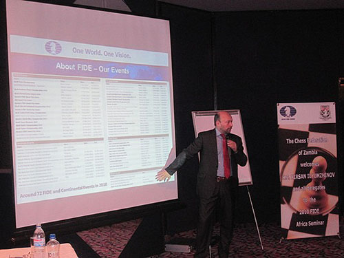 Geoffrey Borg presenting to the African officials.