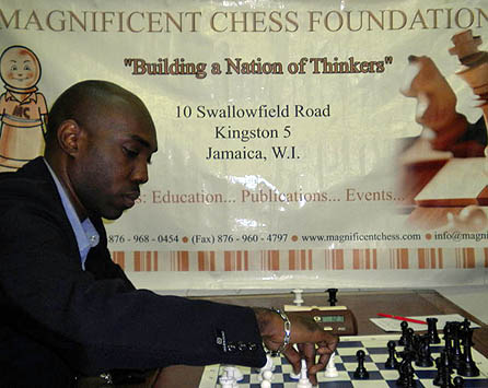 FM Warren Elliott at 2010 Jamaican Championship. Photo by Peter Myers.