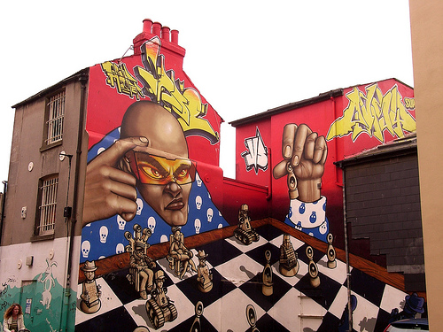 Chess Graffiti in Brighton, England