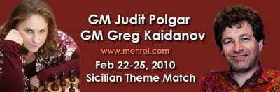 Judit Polgar - Gregory Kaidanov Sicilian Theme Match