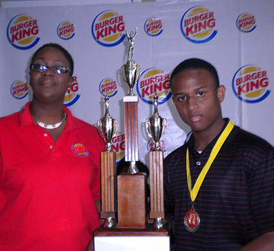 Miguel Asher (right) of Wolmer's Boys High School is the 2011 National Junior Chess Champion