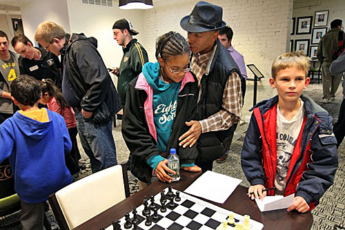 Abdul Shakoor counseling Diamond during tournament at CCSCSL.