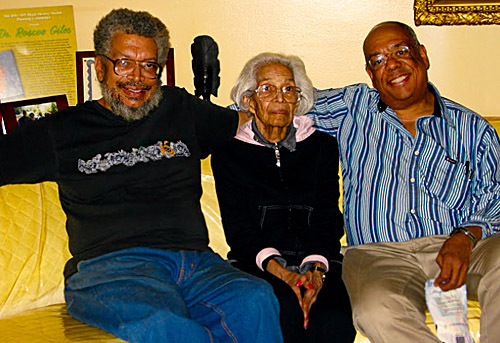 L-R: Morris with his mother Virginia Giles (deceased) and his brother Roscoe (brother).