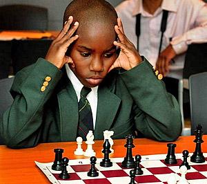 Azola Martin of Detroit City Chess Club. Photo by Ricardo Thomas/The Detroit News.