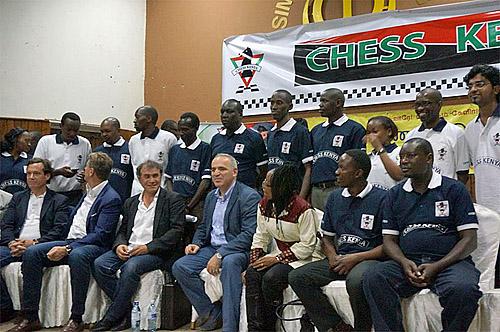 Garry Kasparov in Kenya (2013).