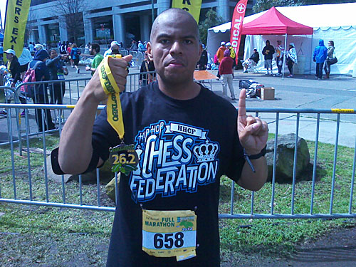 TKASH after running last year's marathon.