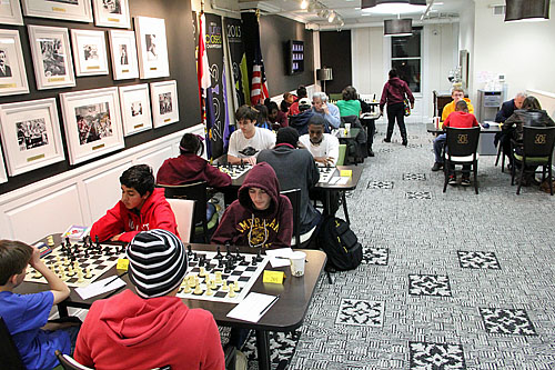 Battling at the nation's premier chess club!