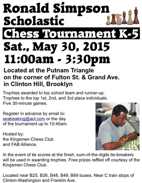 Ronald Simpson Scholastic Chess Tournament K-5