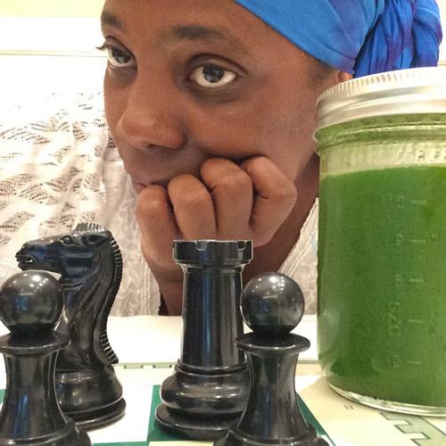 Adia Onyango smoothie challenge.