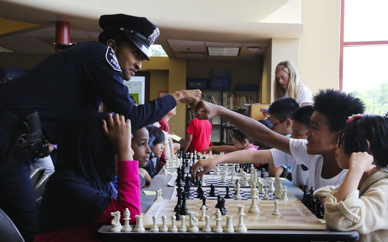 Officer Cookie has been inspiring through chess since 2006. Photo by Alan Berner.