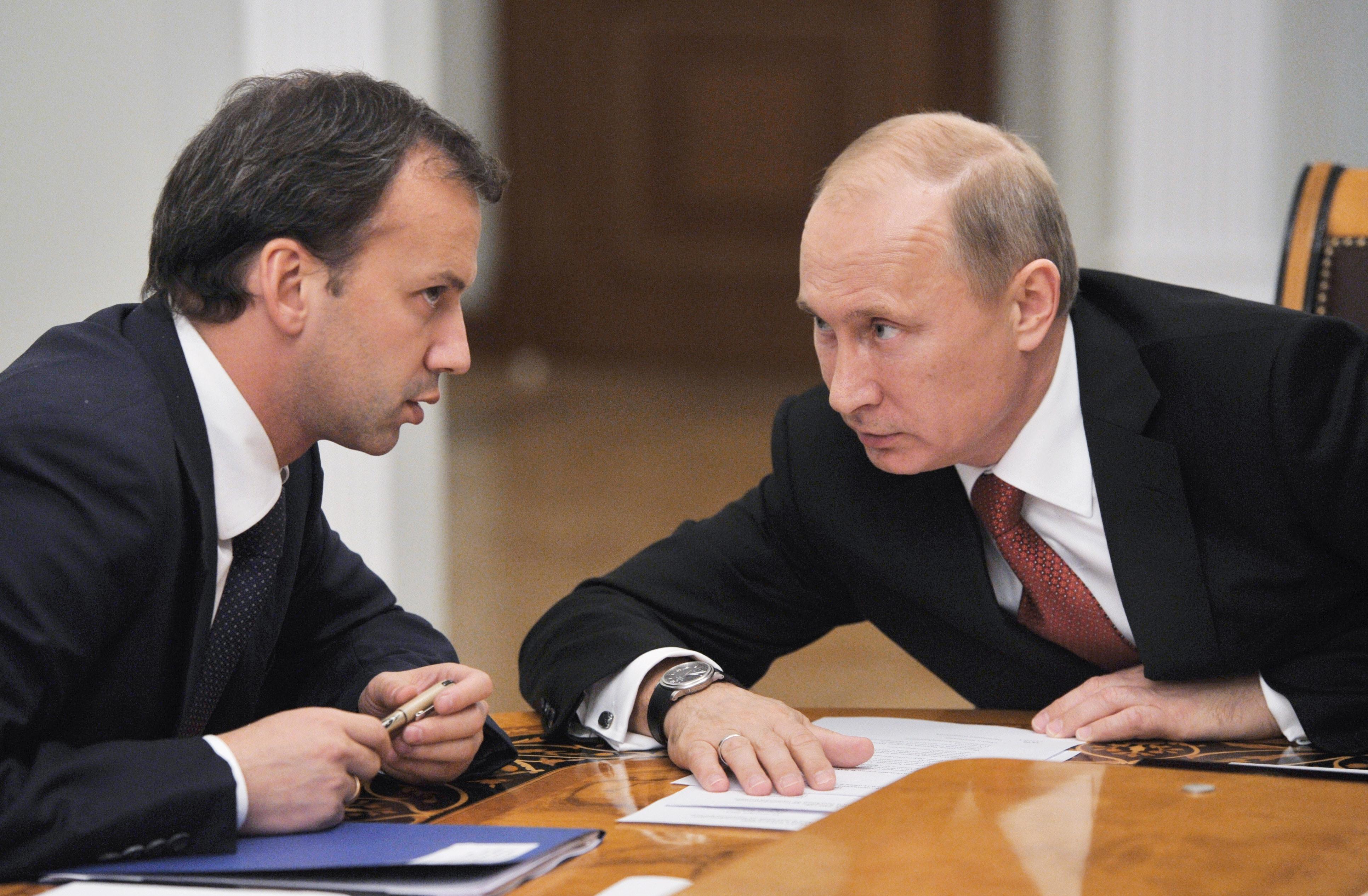 Arkady Dvorkovich with President Vladimir Putin